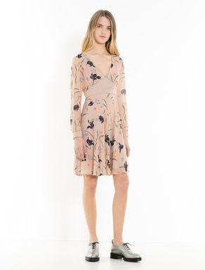 Kleid aus Georgette und Satin