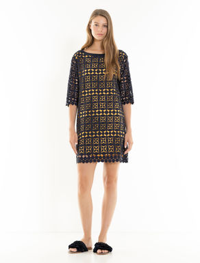 Geometric macramé dress