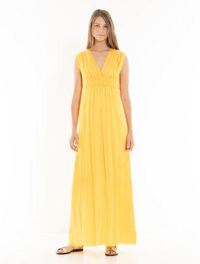 Langes Kleid aus Seidenkrepon