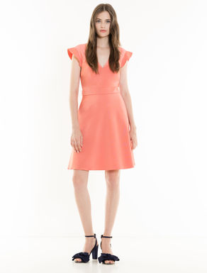 Micro-faille and muslin dress
