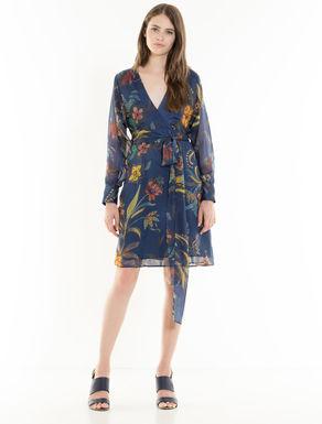 Vestido de seda floral