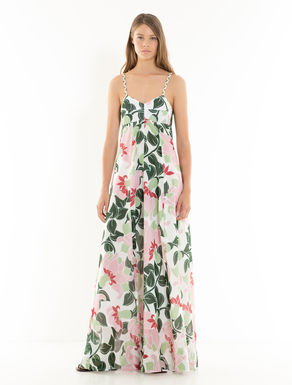 Long muslin floral dress