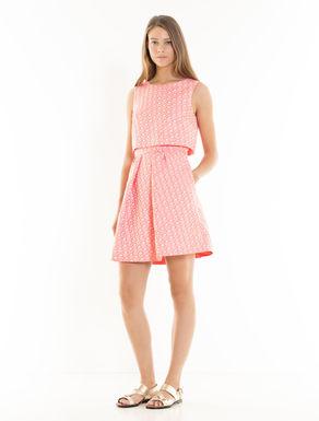 Jacquard dress with crop detail
