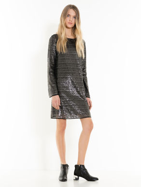 Dress with micro-sequins