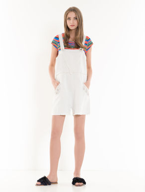 Mini-dungarees in soft drill