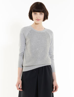 Jumper with micro-sequins