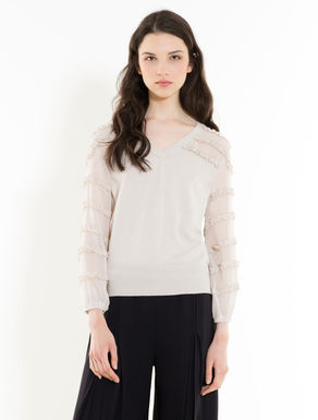 Jumper with silk inserts
