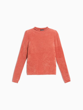 Stretch chenille slim-fit jumper