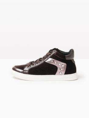 Sneakers montantes en velours