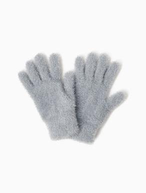 Gants en tricot lamé