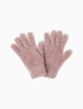 Lamé knit gloves