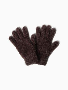Lamé knit gloves