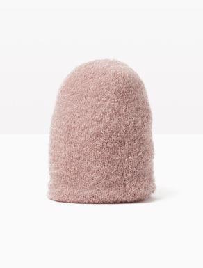 Lamé knit beanie hat