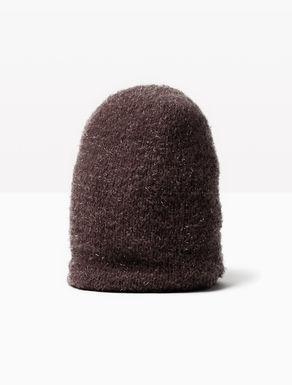 Bonnet en tricot lamé