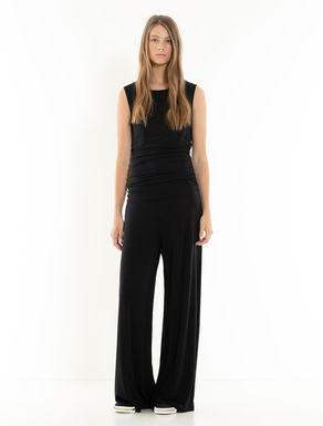 Draped jersey jumpsuit