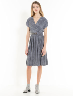 Jersey pleated dress