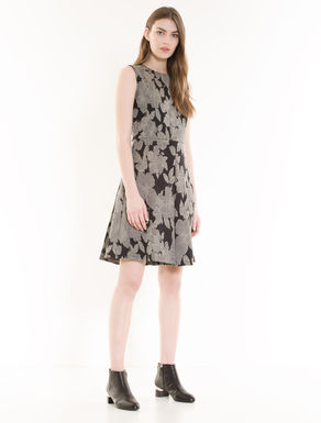 Lamé jacquard jersey dress