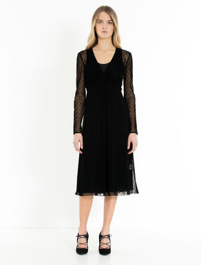 Plumetis tulle midi dress