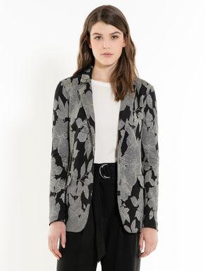 Lamé jacquard jersey blazer