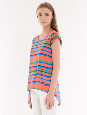 A-line printed jersey T-shirt