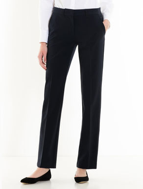 Stretch straight-fit trousers