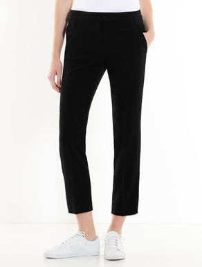 Slim fluid fabric trousers