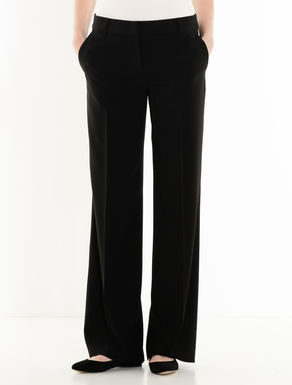 Wide-fit fluid trousers