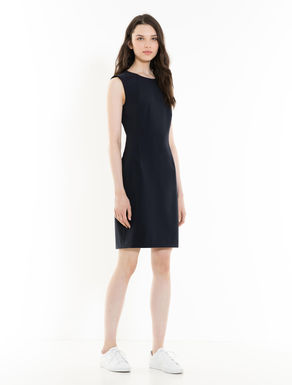 Stretch fabric sheath dress