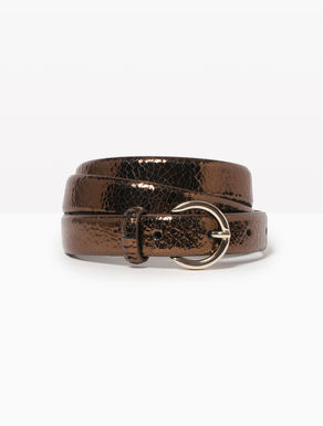 Laminated leather belt