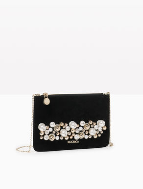 Leather clutch with beading