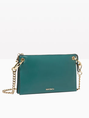 Gusseted envelope bag with chain