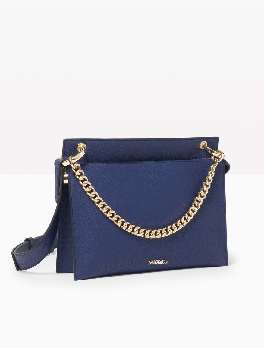 5b654953b2 4514067703004 42122 00390223345511. max co bag with shoulder strap and  chain cornflower blue