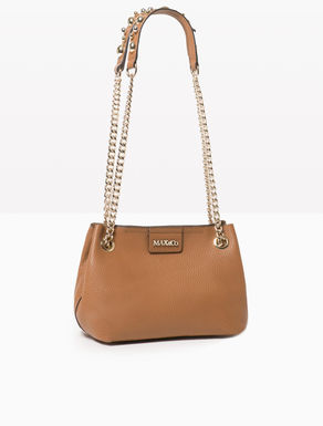 Mini leather shoulder bag with beads