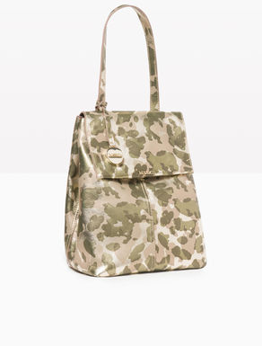 Camouflage leather backpack