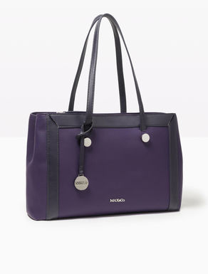 Tone-on-tone leather shopper