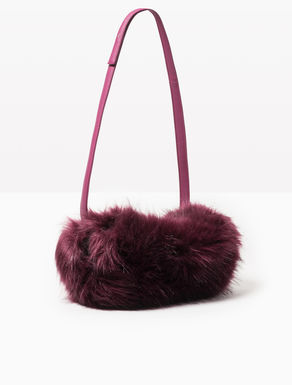 Faux fur muff bag