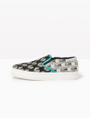 Lamé jacquard slip-on sneakers