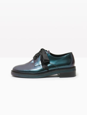 Iridescent leather Derby shoes