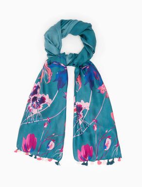Sciarpa in seta floreale