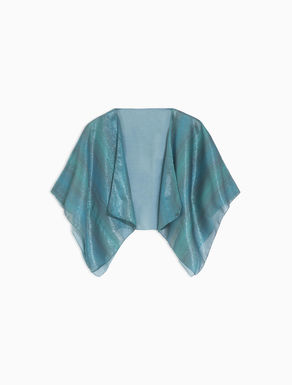 Silk and lamé shrug