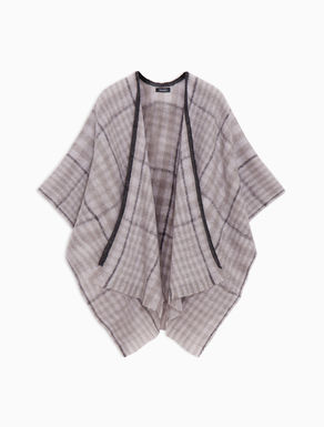 Brushed poncho