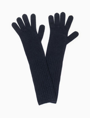 Long wool/cashmere gloves