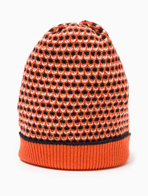3D jacquard knit beanie