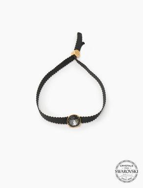 Grosgrain bracelet with crystal