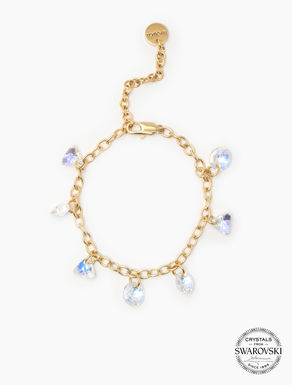Bracelet with crystal charm