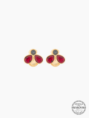 Ladybird earrings with crystals