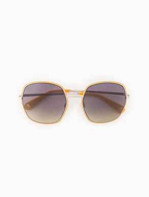 Geometric metal sunglasses