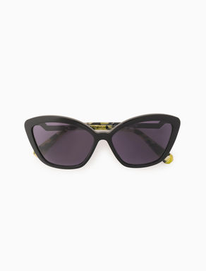 Cat-eye sunglasses with origami detail