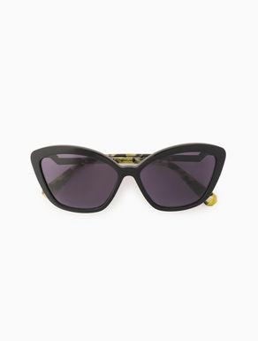 Cat-Eye-Brille mit Origami-Detail