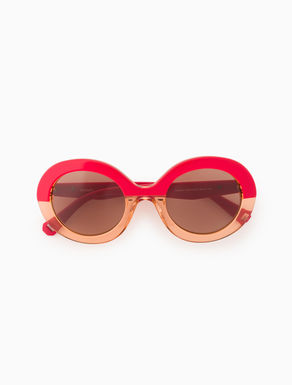 Oval colour-block sunglasses